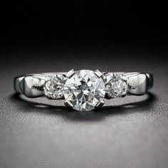 .62 Carat European-Cut Diamond Engagement Ring in Platinum