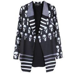 SUPER COOL Branded skull prints blazer 50ca17262d96