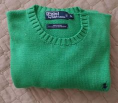 #ebay POLO Ralph Lauren men's size L green cotton sweater crew-neck style RalphLauren withing our EBAY store at  http://stores.ebay.com/esquirestore