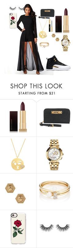 """""""Nikayla Mcqueen"""" by daphaniedawson ❤ liked on Polyvore featuring Kevyn Aucoin, Moschino, Amanda Rose Collection, Versace, Loren Stewart, Casetify, Velour Lashes and Yves Saint Laurent"""