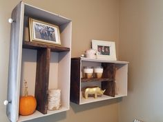 DIY - Turn Old Drawers Into Shelves! if handles instead of pulls put downward for hanging items
