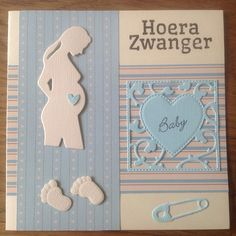Hoera zwanger. Marianne Design, Baby Shark, Baby Cards, Easy Projects, Baby Showers, Paper Art, Card Ideas, Layouts, Pregnancy