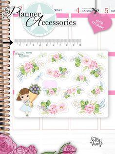 Sticker - Blumen Sticker Mädchen Sticker NR722 - ein Designerstück von PlannerAccessories bei DaWanda