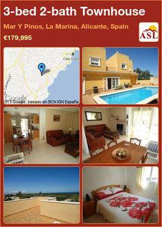 3-bed 2-bath Townhouse in Mar Y Pinos, La Marina, Alicante, Spain ►€179,995 #PropertyForSaleInSpain
