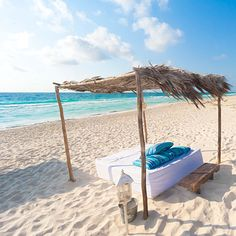 Your own day bed on a gorgeous Caribbean beach