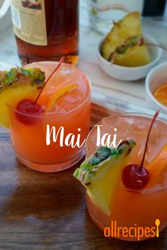 A Mai Tai is a boozy blend of coconut and spiced rum, triple sec, orange and pineapple juices, and a splash of grenadine. Mix up a batch for a taste of the tropics to enjoy with friends and family this summer. Fruity Drinks, Summer Drinks, Spring Cocktails, Beach Drinks, Alcoholic Drinks Rum, Spiced Rum Drinks, Amaretto Drinks, Amaretto Sour, Mix Drinks