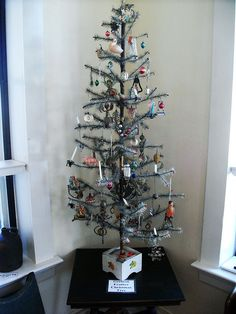 images of German feather trees | German feather Christmas tree | Flickr - Photo Sharing!