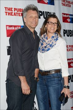 Jon and Dorothea at the Public Theater's annual gala on June 9, 2015 at the Delacorte Theater in Central Park.