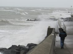 A stormy day in August on the Norfolk coast
