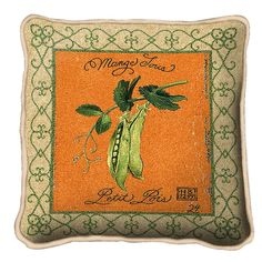 Pea Pods Art Tapestry Pillow