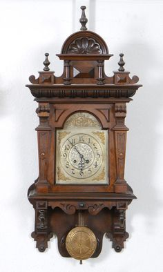 Hand carved German wall Clock