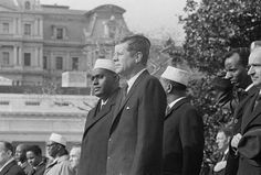 Sharmarke, President of Somalia, and JFK in Somalia in 1960s