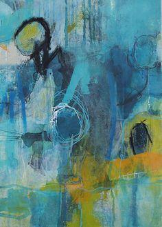 Abstrakte Kunst von Iris Rickart / Unikatbild 215 / Mischtechnik