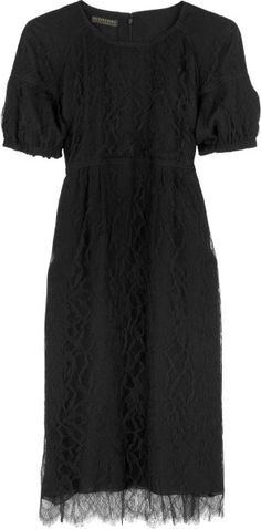 Burberry Prorsum Italian Lace Dress in Black