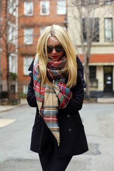 black and plaid. #plaid #black #fashion