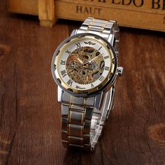 Men Hollow Skeleton Automatic Mechanical Stainless Steel Wrist Watch https://www.steampunkartifacts.com/collections/steampunk-wrist-watches