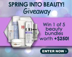 Win 1 of 5 $250 Spring Skin Care Beauty Bundles Please use my link and GOOD LUCK BEAUTIES!!!  http://virl.io/dmJzPTst
