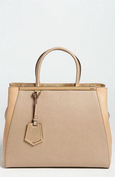 Fendi '2Jours Elite' Leather Shopper