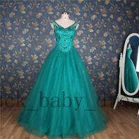 True pic Sweet Prom Dresses Beaded Quinceanera Dress Party Formal Evening Gown