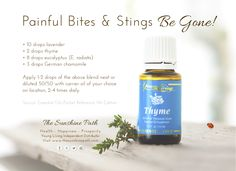 Young Living Essential Oils: Thyme for Bugs Stings Bites Insects