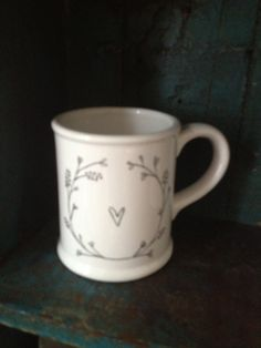 Handpainted mug by Mimolo www.mimolo.co.uk