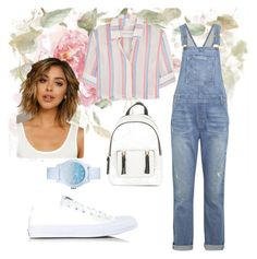 """Без названия #3"" by bolatovaalina on Polyvore featuring мода, Solid & Striped, Converse, Current/Elliott, New Look и Lacoste"