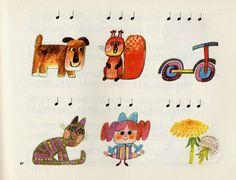小さな子供のためのピアノの教則本、楽譜集です。イラストを担当するのは表紙のイラストを見れば一目瞭然、ヨゼフ・パレチェックです。