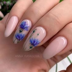 Great Nails, Perfect Nails, Cute Nails, Minimalist Nails, Purple Nail Art, Cute Nail Polish, Holographic Nails, Flower Nails, Nail Manicure