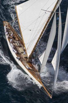 Sailing a classic yacht. Classic Sailing, Classic Yachts, Yacht Design, Yacht Boat, Sail Away, Set Sail, Wooden Boats, Wooden Sailboat, Yachts