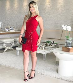 LOVE RED. ❤️ Vestido {199,90} . #fashionlook #lojabiswear #elasusambiswear #red #dress . 🖥Disponível no site •PEÇAS + CORES + TAMANHOS• (www.biswear.com.br) Female Stars, Looks Style, How To Look Better, Bodycon Dress, Women's Fashion, Street Style, Model, Beautiful, Tops