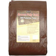 Sigman 40 ft. x 60 ft. Brown Economy Tarp-BRPT040060 - The Home Depot