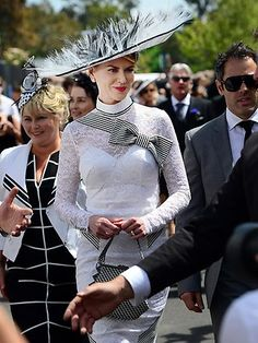 Nicole Kidman's Derby Day ensemble channels Eliza Doolittle at Royal Ascot in the classic movie version of My Fair Lady. Picture: Alex Coppel Source: News Limited