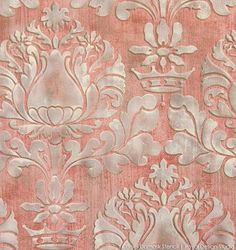 FORTUNY INSPIRED Learn how to stencil with Royal Design Studio wall stencils - How to paint a fabric texture wall finish Curtain Patterns, Stencil Patterns, Stencil Designs, Damask Stencil, Visual Texture, White Chalk Paint, Royal Design, Stencil Painting, Faux Painting