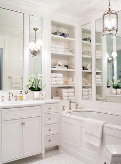 white marble backsplash shelf - Google Search