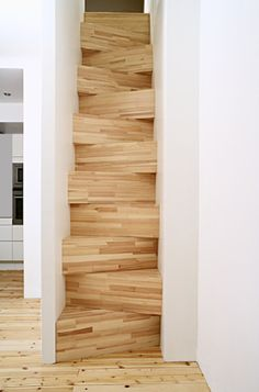 Stairs so small that they fit into the size of a closet - designed by Gabriella Gustafson & Mattias Ståhlbom