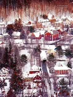 Real Christmas Village in Vermont