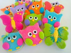 Owls and Butterfly Cookies  2 Dozen by acookiejar on Etsy, $29.95