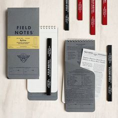 Extra! Extra! Read all about it! For years @FieldNotesBrand have been trying to get this notebook right and have finally released their take on the iconic reporter's notebook, the 'Byline' edition, created with the help of John Dickerson, veteran reporter and host of CBS's Face the Nation. Be prepared to whip it out, flip it open and take note with this 31st Field Notes limited release, which comes in a set of two (double the trouble!) and will only be available for a short time. Pair it…
