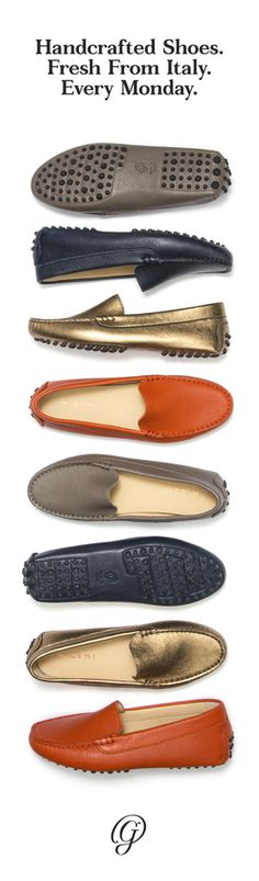 [now this looks promising. jh] M.Gemi releases a brand new set of handcrafted Italian shoes every single week. Flats, pumps, boots, moccasins -- it's a mystery until the day they're released. To find out first and get a sneak peek the day before the shoes debut, sign up for our newsletter by clicking to visit our site. -- mgemi.com