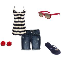 Simple 4th of July outfit- If anyone finds this shirt let me know! It is gone :(