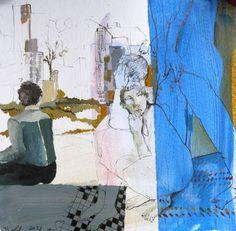 "Saatchi Art Artist golnaz AFRAZ; Painting, ""Her & the others"" #art"