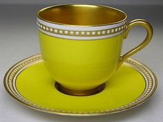 Royal Worcester cups and plates inlaid jewelry