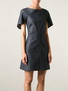 Giamba Cap Sleeve Denim Dress - Le Grand Bazar - Farfetch.com