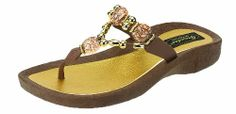 Grandco Expression Thong Sandals - Brown - 6