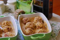 Albóndigas con salsa de champiñones al cava.   Cuchillito y Tenedor