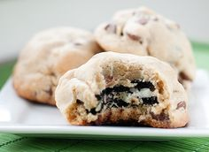 Oreo Stuffed Chocolate Chip Cookies...absurd, ludicrous and totally delicious