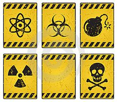 Warning! Party in Progress! Dot these hazard sign printables around your child's science party. Science Party Laboratory Party Mad Scientist Party Science Lab Party
