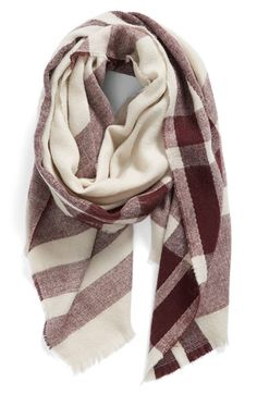 Free shipping and returns on BP. Fringe Trim Plaid Oblong Scarf at Nordstrom.com. Soft fringe and fashionable plaid lends unmistakable style to a soft, cozy scarf.