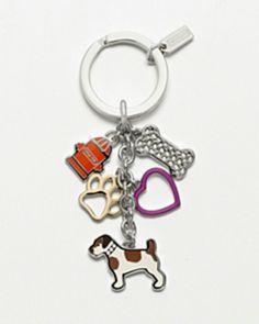 Coach dog key chain