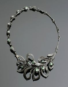 Necklace | Katia Pflipsen Olivova ~ OlivOva Designs. Faceted jade with sterling silver and lead free soft solder.
